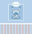 Stuffed rabbit vector image vector image