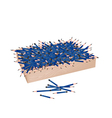 A Lot of Sharpened Pencils in Wooden Container vector image