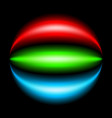 abstract rainbow ray on black background vector image