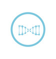 Dna blue round icon vector image