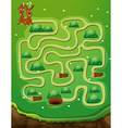 Game template with rabbits and hole vector image