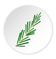 green rosemary twig icon circle vector image