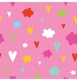Hand drawn hearts and clouds seamless vector image