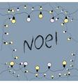 Merry Christmas card Noel vector image