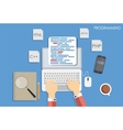 Programming Coding Flat Concept vector image