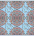 sea waves seamless pattern marine mandala vector image