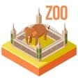 Zoo Elephant isometric icon vector image