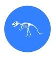 Tyrannosaurus rex icon in black style isolated on vector image