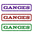 ganges watermark stamp vector image
