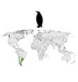 Magellanic penguin range vector image vector image