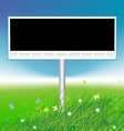 billboard on green field background vector image