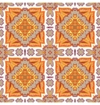 Gorgeous seamless patchwork pattern from Moroccan vector image