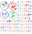 set of smily faces vector image