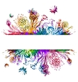 Floral background Colorful flower card vector image