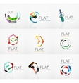 Logo collection - abstract minimalistic linear vector image