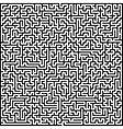 Abstract maze of high complexity vector image