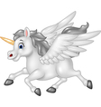 Cartoon Pegasus isolated on white background vector image