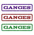 ganges watermark stamp vector image