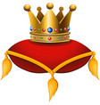 gold crown on a crimson cushion vector image