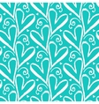 Pattern with hand drawn hearts vector image