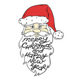 Portrait Of Santa Claus With Greeting Text vector image
