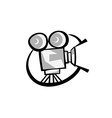 Retro cinema logo vector image