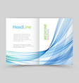 two fold business flyer template vector image