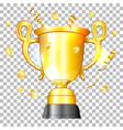 golden cup winner vector image