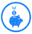 Deposit piggy bank rounded grainy icon vector image