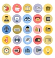 office icons set vector image vector image