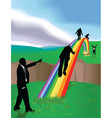 rainbow business concept vector image vector image