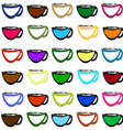 Coffee cups COLOR vector image