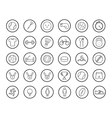 Active sport games linear icons set vector image