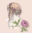 Cute fashion girl vector image