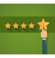 Flat design customer review vector image