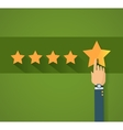 Flat design customer review vector image