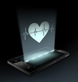 Icon heart on the screen vector image