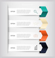 infographics business banners set vector image