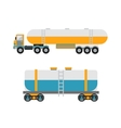 Oil logistic petroleum transportation tank car vector image