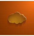 Orange eco glossy glass cloud icon vector image