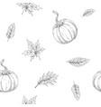 seamless pattern on autumn theme vector image