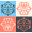 Set of abstract flowers in different colors vector image
