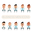Set of business men6 vector image