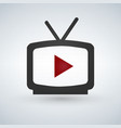 video play icon vector image