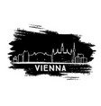 vienna skyline silhouette hand drawn sketch vector image