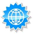 World blue icon vector image