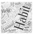 Emotional Bad Habits Word Cloud Concept vector image