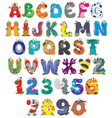 Font Monsters vector image