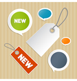 Set of Labels Tags vector image vector image