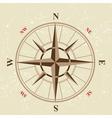 vintage compass icon vector image vector image